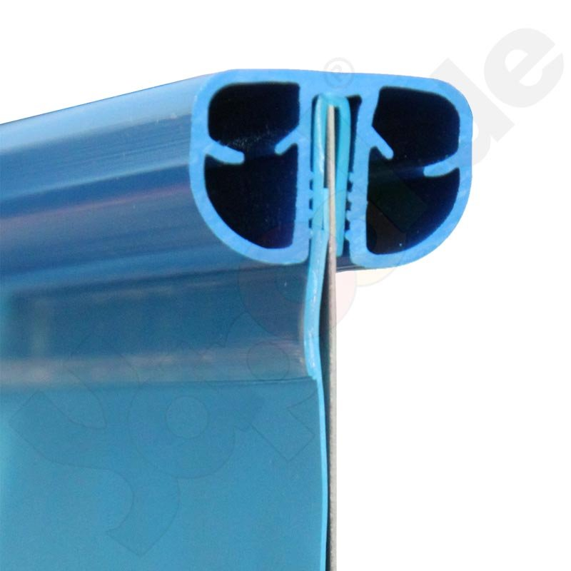 Profi rundbecken rundpool fun 9 0 x 1 5 m folie blau 0 8 for Rundpool folie