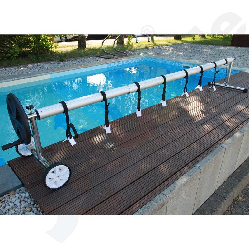 aufrollvorrichtung easy fix edelstahl alu teleskoprohr 5 teilig bis 5 0 m pool. Black Bedroom Furniture Sets. Home Design Ideas