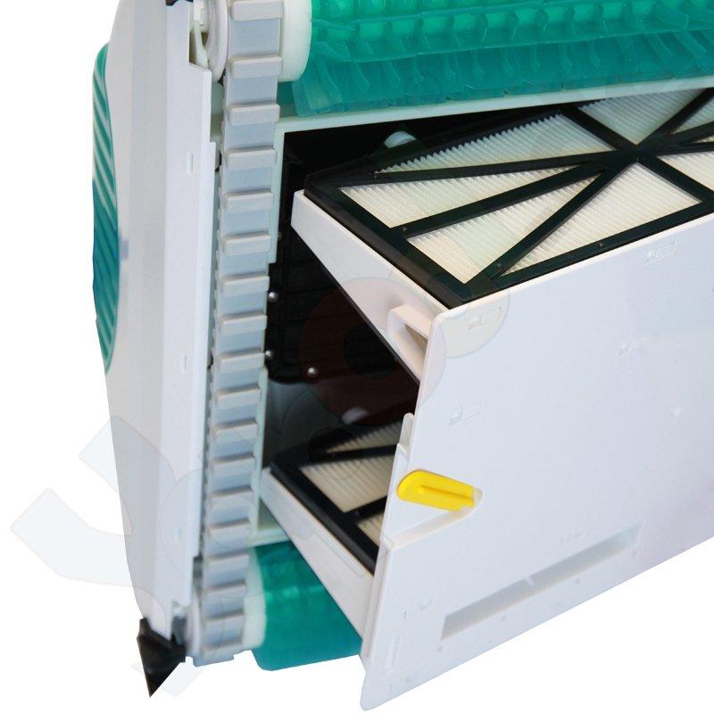 dolphin starlux poolroboter kartuschenfilter pvc b rste boden wandreinigung. Black Bedroom Furniture Sets. Home Design Ideas