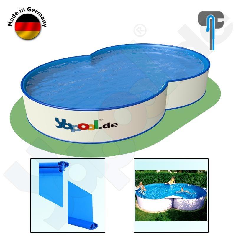 Achtformpool folie schwimmbad und saunen for Hersteller poolfolien