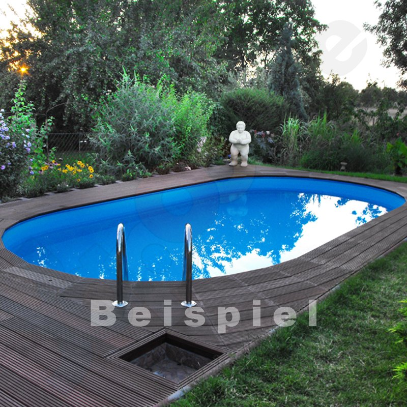 Profi ovalpool swim 4 5 x 3 0 x 1 2 m folie sand 0 8 mm for Ovalpool stahlwand