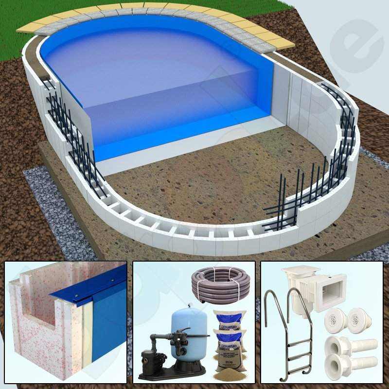 premium package yapool stone ps40 ps25 styrofoam oval pool 5 0 x 10 0 x 1 5 m. Black Bedroom Furniture Sets. Home Design Ideas