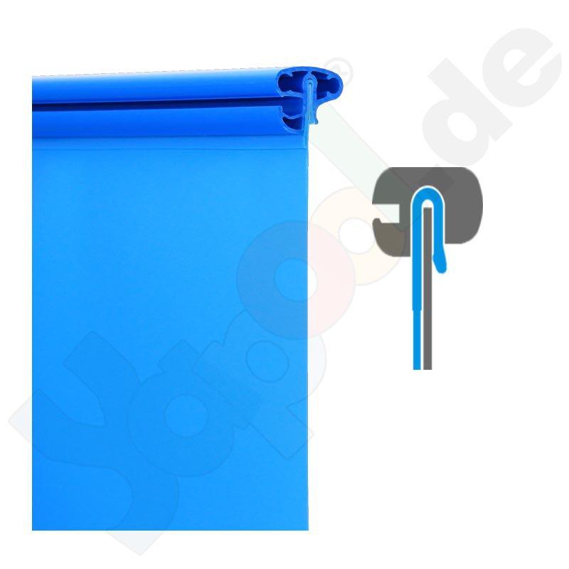 Rundbecken rundpool fun 3 0 x 1 5 m ih blau 0 6 mm for Rundpool folie