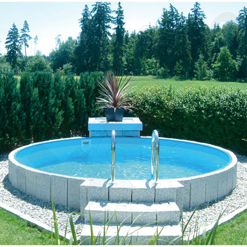 Rundbecken rundpool fun 3 0 x 1 2 m ih blau 0 6 mm for Rundpool stahlwand