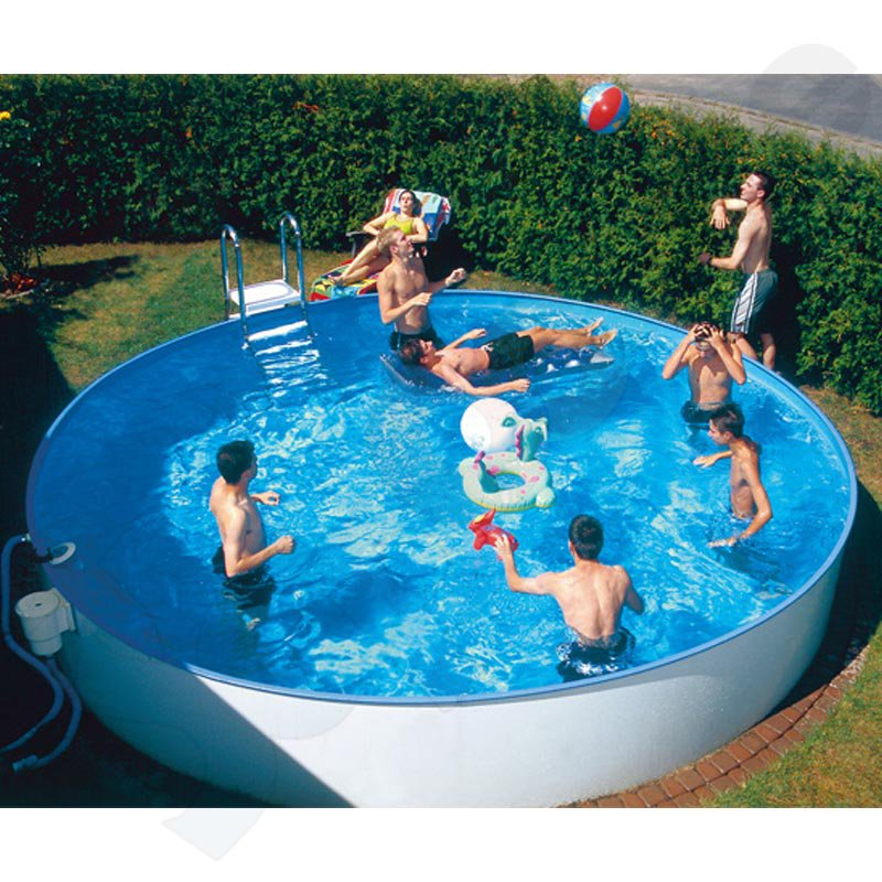 Rundbecken rundpool fun 3 2 x 1 5 m folie blau 0 6 mm for Rundpool stahlwand