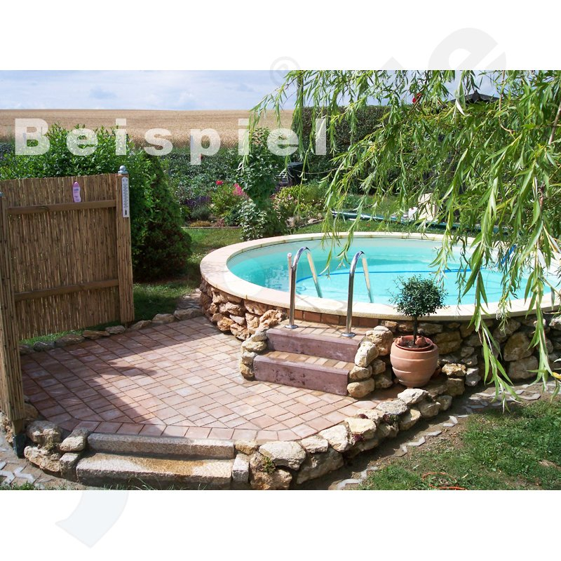 yapool stone ps25 styropor pool schwimmbecken rundbecken rundpool 3 0 x 1 5 m. Black Bedroom Furniture Sets. Home Design Ideas