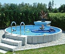 Rundbecken minifun 2 0 x 0 9 m ih blau 0 6 mm ebay for Schwimmbad zum aufstellen