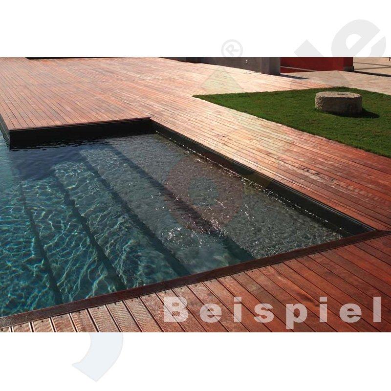 alkorplan 2000 schwimmbadfolie zuschnitt 2 05m x lfm gewebeverst rkt dunkelgrau. Black Bedroom Furniture Sets. Home Design Ideas