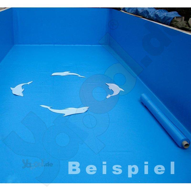Folie verbundblech vb12 winkel 12x4 5x200cm adriablau for Gewebefolie pool