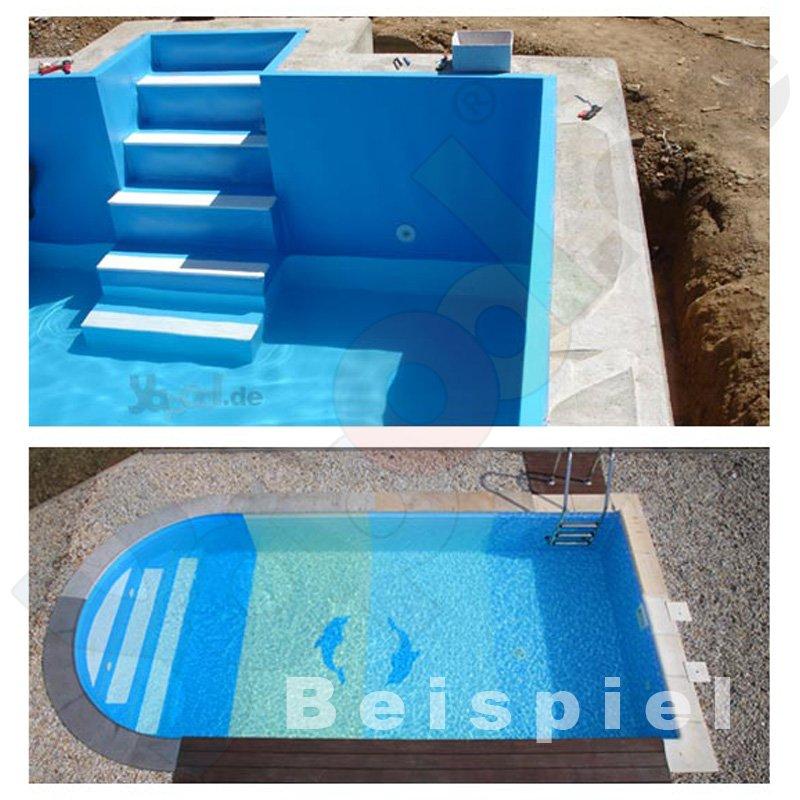 Folie verbundblech vb12 tafel 200 x 100 cm adriablau for Pool gewebefolie