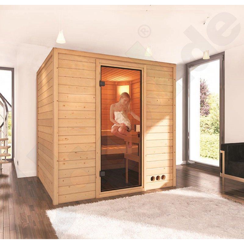 massivholz sauna lieto rechteckig 2 liegeb nke. Black Bedroom Furniture Sets. Home Design Ideas