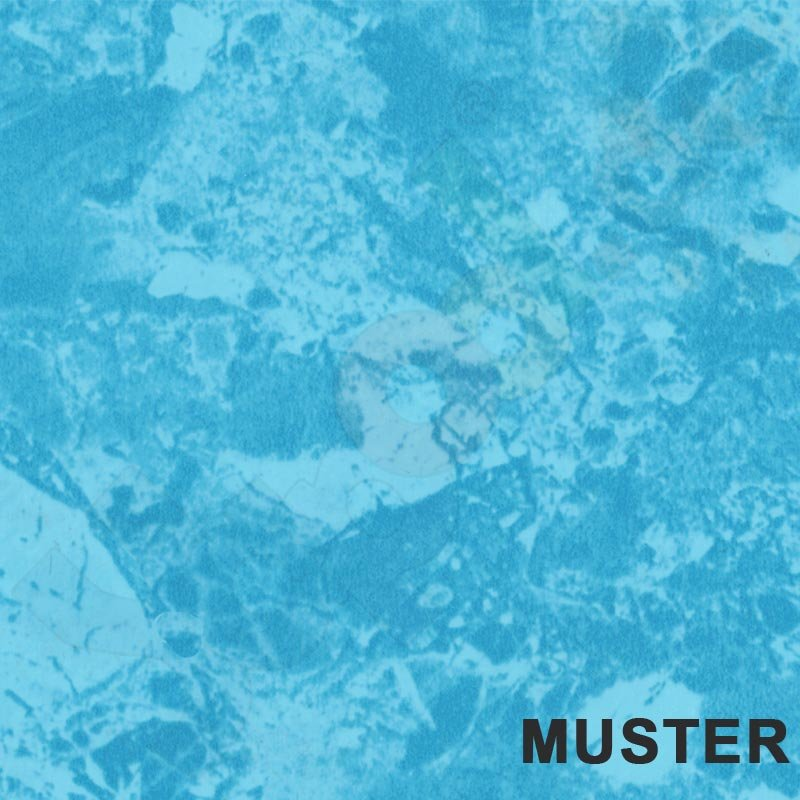 Muster pool pvc folie 0 8 mm blau marmoriert auf hellblau for Gewebefolie pool