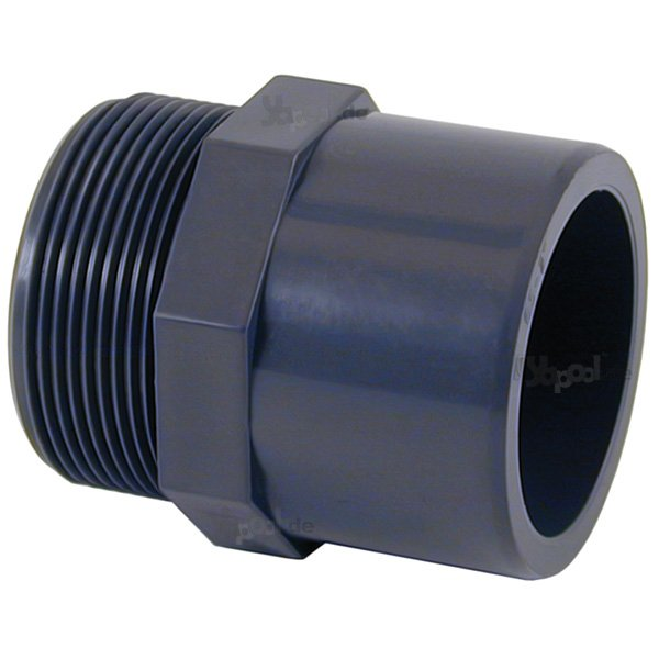 Pvc bergang klebemuffe 50 mm x au engewinde 2 39 39 yapool for Raccordo da pvc a rame