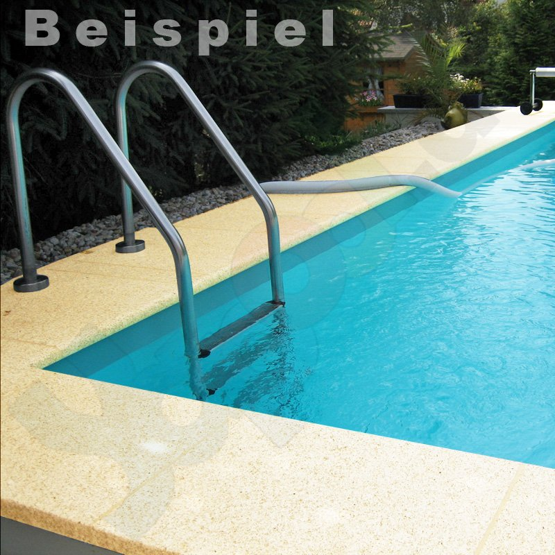 Pool randsteine aus beton f r rundbecken 3 0 m for Pool rundbecken