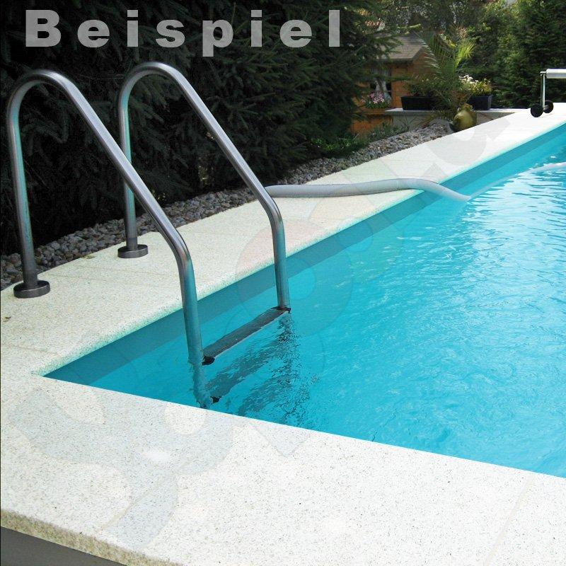 Pool randsteine aus beton f r rundbecken 4 0 m wei for Pool rundbecken