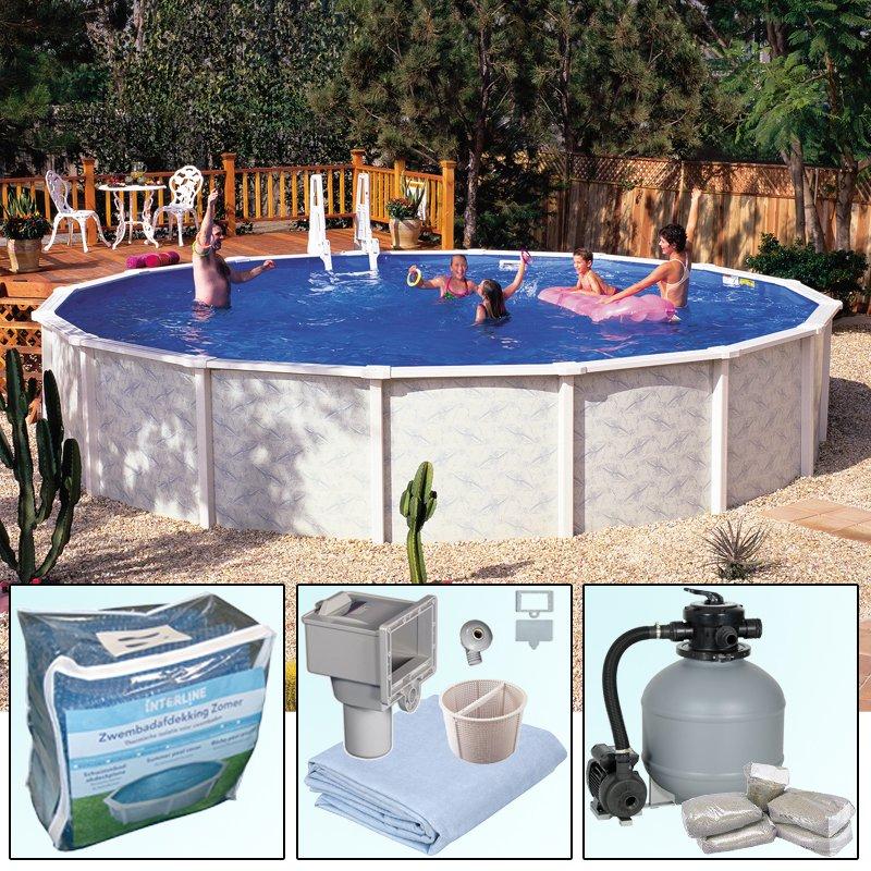 Rundbecken rundpool doughboy pool diana 4 90 x 1 32 m for Pool rundbecken