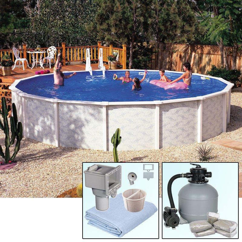 Rundbecken rundpool doughboy pool diana 4 90 x 1 32 m for Rundbecken pool