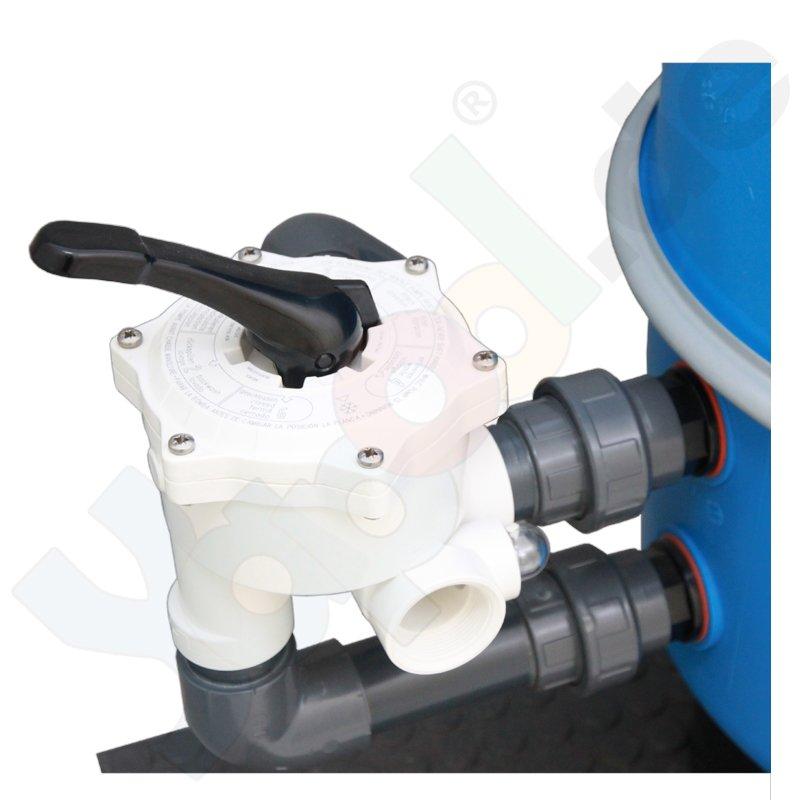 Pool Sandfilter Filterkessel 600mm 6 Wege Ventil  Yapool de ~ 01175401_Gartenteich Ohne Pumpe Und Filter