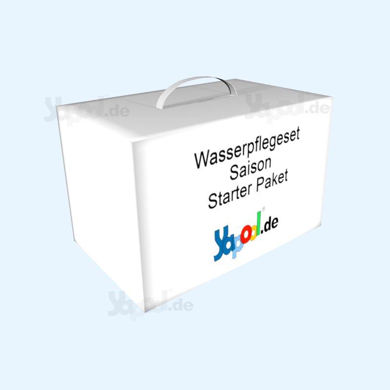 Wasserpflege set pool saison starter paket kaufen yapool for Schwimmbecken stahlwand set