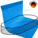 Pool Liner for Oval Pools 7,0 x 3,5 x 1,5 Type overhanging seam 0,8 blue