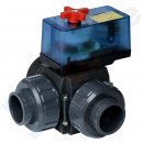 Praher 3-Way Motor Ball Valve PVC 230V 40 mm