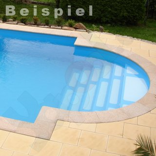 Dom Composit Pooltreppe Römische Treppe Classic 4 stufig, 2,5 m sand