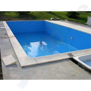 Großartig Pool Randsteine aus Beton für Ovalbecken 3,2 x 5,3 m weiß  DL74