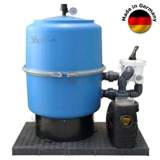 Pool sandfilteranlage kessel 400mm 6 wege ventil mit pumpe for Sandfilteranlage