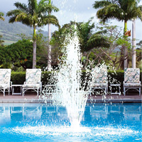 Springbrunnen kunststoff 30 x 30 cm inkl anschlussset for Swimmingpool abverkauf