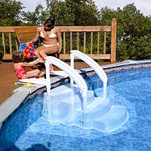 Schwimmbad Einstelltreppe