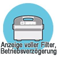 Anzeige voller Filterbeutel, Betriebsverzögerung