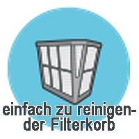 Einfach zu reinigender Filterkorb