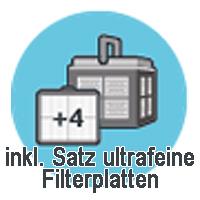 inkl. Satz ultrafeine Filterplatten