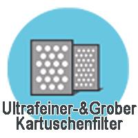 Zweistufige Filterporosität
