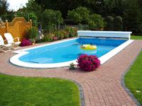 eingebautes Styropor Schwimmbecken