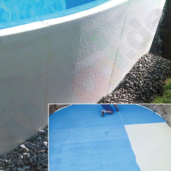 Paket Conzero Bodenplatten Und Rundschalung Für Rundpool 50x12m