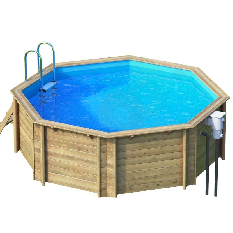 Holzpool holzschwimmbecken achteckbecken 4 14 x 1 2 m for Piscine tropic octo 414